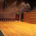 Main Auditorium with seats retracted, dlr Mill Theatre, Dundrum, south Dublin