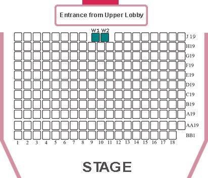 Seat Plan at dlr Mill Theatre, Dundrum, south Dublin
