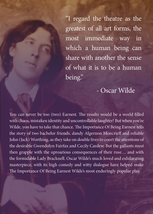 Oscar Wilde's The Importance of Being Earnest August 2017 Dundrum Town Centre